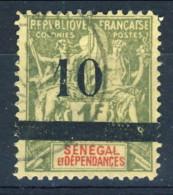 Senegal 1903 N. 29 C. 10 Su  F. 1 Verde Oliva Usato Catalogo € 115 - Unclassified