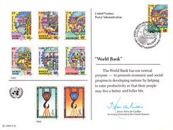 ONU Nations Unies - Vienne 89 Sur Carte Premier Jour - La Banque Mondiale - Transports - Vienna – International Centre