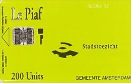 # PIAF NL.AMS25 AMSTERDAM - Green - Logo Stadstoezicht, Danton Street And Laser Printing Date -etat Courant  - - Parkkarten
