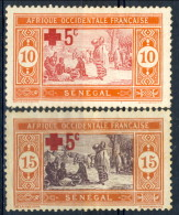 Senegal 1915 - 16 Serie N. 70-71 Pro Croce Rossa MLH Catalogo € 4,60 - Unclassified
