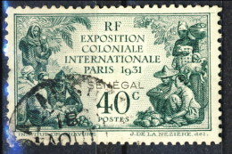 Senegal 1931 N. 110 Expo Coloniale C. 40 Verde Usato Catalogo € 5,75 - Unclassified