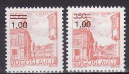 YUGOSLAVIA 1983. Definitive, MNH (**), Mi 1968 A, C - 1945-1992 Sozialistische Föderative Republik Jugoslawien