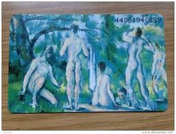 Nice Painting: From Paul Cezanne : Naked People / Die Badenden  - O 1200 / 1994   -   Fine Used Card - Deutschland