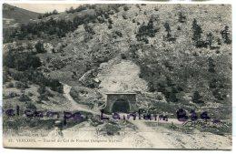 - 22 _ VERCORS - ( Drôme ), Tunnel Du Col De Rousset, écrite, Cachet La Chapelle En Vercors, 1912 TBE, Scans. - Altri Comuni