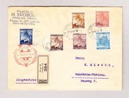 DR Besetzung Böhmen Und Mähren PRAG 22.9.1941 R-Brief Nach Mannheim - Bohême & Moravie