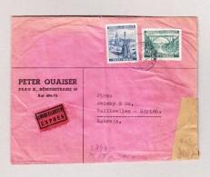 DR Besetzung Böhmen Und Mähren PRAG 24.6.1941 Zensur Exprès Brief Nach Wallisellen - Bohême & Moravie