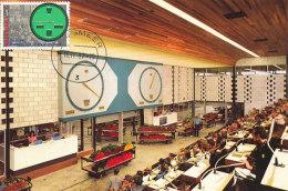 D26967 CARTE MAXIMUM CARD FD 1987 NETHERLANDS - AALSMEER FLOWER AUCTION CLOCK CP ORIGINAL - Uhrmacherei