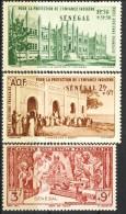 Senegal Posta Aerea 1942 Serie N. 18-20 MNH Catalogo € 2,50 - Unclassified