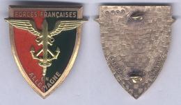 Insigne Des Forces Françaises En Allemagne - Hueste