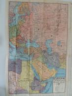 CARTE GEOGRAPHIQUE EDE    EUROPE ORIENTALE TURQUIE SYRIE IRAK IRAN AFRIQUE NORD EST - Geographical Maps