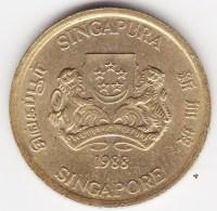 @Y@    Singapore  5 Cent 1988     (3803) - Singapore