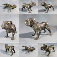 ~ CHIEN BOULEDOGUE EN METAL # Sculpture Statue Animal Molosse - Autres