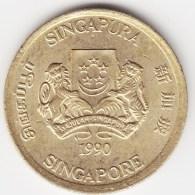 @Y@    Singapore  5 Cent 1990     (3805) - Singapore