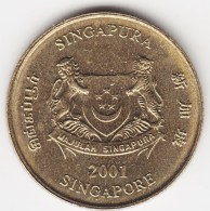 @Y@    Singapore  5 Cent   2001     (3807) - Singapore