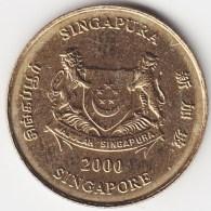 @Y@    Singapore  5 Cent   2000     (3809) - Singapore