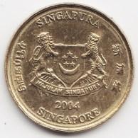 @Y@    Singapore  5 Cent   2004     (3812) - Singapore