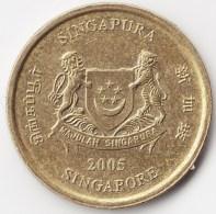 @Y@    Singapore  5 Cent   2005     (3813) - Singapore