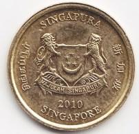 @Y@    Singapore  5 Cent   2010     (3814) - Singapore