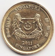 @Y@    Singapore  5 Cent   2011      (3816) - Singapore