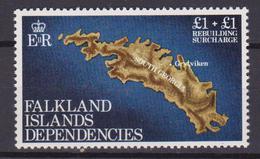 Falkland Is. Dependencies 115 Map Island South Georgia MNH - Falkland
