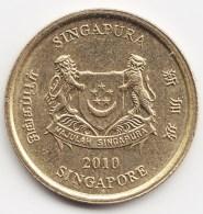 @Y@    Singapore  5 Cent   2010      (3818) - Singapore
