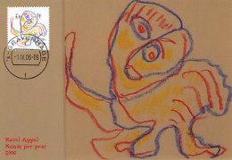 D26983 CARTE MAXIMUM CARD FD 2006 NETHERLANDS - LAST PAINTING BY KAREL APPEL COBRA CP ORIGINAL - Hockey (Field)