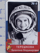 320 Space Pin. Cosmonaut Tereshkova V.  Serie Pride And Glory Of Russia 39x59mm - Space