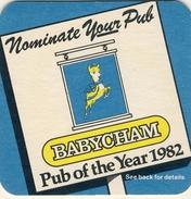 Lot 5 Scarse Sous Bock Bierdeckel Coaster Bierviltje BABYCHAM 1982,1983 Chamois, Champagne Poire, Perry 10 Photos - Bierdeckel