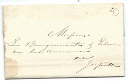 L Datée De JUPILLE 1840 Avec Boîte Rurale C Pour Jupille. Lettre Distribuée Par Le Facteur Dans La Même Tournée. R - 1830-1849 (Belgique Indépendante)