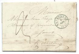 L De BRUXELLES/1849 Pour Mr Alexandre BRASSEUR à Jumet - 1830-1849 (Belgique Indépendante)