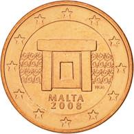 Malte, 5 Euro Cent, 2008, SPL, Copper Plated Steel, KM:127 - Malta