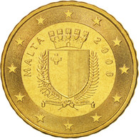 Malte, 10 Euro Cent, 2008, SPL+, Brass, KM:128 - Malta