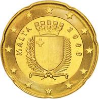Malte, 20 Euro Cent, 2008, SPL+, Brass, KM:129 - Malta