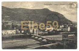 Ventimiglia (IM), Borgo S. Agostino E Fiume Roia, Scritta - Italia
