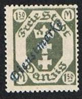 Danzig Dienstmarke 1,5m. Mint No Gum - Dantzig