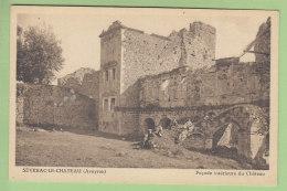 SEVERAC LE CHATEAU : Façade Intérieure Du Château. 2 Scans. Edition Tabart - Altri Comuni