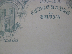Portugal Entier Postal Vierge Illustré 1898 Centenario De Jadja Lisboa - Entiers Postaux