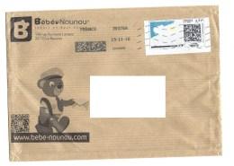 """Vignette """"mon Timbre En Ligne"""" France 500 Grammes - 3.71 € - Sur Enveloppe Demi-format """"BEBE NOUNOU"""" - Unclassified"""