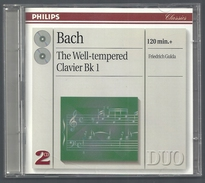CD PIANO - BACH : LE CLAVIER BIEN TEMPÉRÉ, Livres 1 Et 2 - FRIEDRICH GULDA, PIANO - Classique