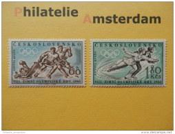 Czecoslovakia 1960, OLYMPICS SQUAW VALLEY: Mi 1183-84, ** - Winter 1960: Squaw Valley