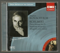 CD PIANO - SCHUBERT : SONATE N° 21, MOMENTS MUSICAUX - STEPHEN KOVACEVICH, PIANO - Klassik