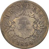 Suisse, 20 Rappen, 1859, Bern, B+, Billon, KM:7 - Suiza
