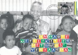D27087 CARTE MAXIMUM CARD RR 2013 NETHERLANDS - POSTMARK DATE OF DEATH NELSON MANDELA - NOBEL PRIZE PEACE CP ORIGINAL - Nobel Prize Laureates
