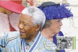 D27088 CARTE MAXIMUM CARD RR 2013 NETHERLANDS - POSTMARK DATE OF DEATH NELSON MANDELA - NOBEL PRIZE PEACE CP ORIGINAL - Nobel Prize Laureates