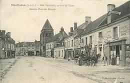 37 MANTHELAN - Rue Nationale Arrivée De Tours Grande Place Du Marché - France