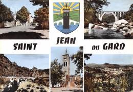 CPSM 30 ST JEAN DU GARD PONT MULTI VUES  Grand Format 15 X 10,5 - Saint-Jean-du-Gard