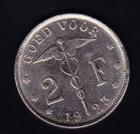 BELGIUM MORIN CAT N° 392   SUP+    1923 .   (B 64) - 08. 2 Francs