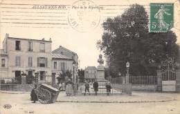 93 - SEINE SAINT DENIS / Aulnay Sous Bois - Place De La République - Petit Plan Boulangère Avec Sa Charette - Aulnay Sous Bois