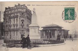 CARTE POSTALE   PARIS 17°   Station Courcelles-Ceinture.Le Monument Flachat - Arrondissement: 17