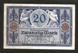 DEUTSCHES REICH - (DEUTSCHLAND / GERMANY) - 20 MARK (BERLIN - 1915) - REICHSBANKNOTE - 20 Mark